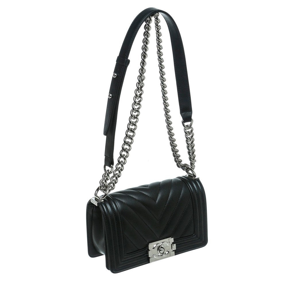 aa434f9effcb Chanel Mini Boy Chevron Bag Black Chanel Mini Boy Chevron Black New Side ...