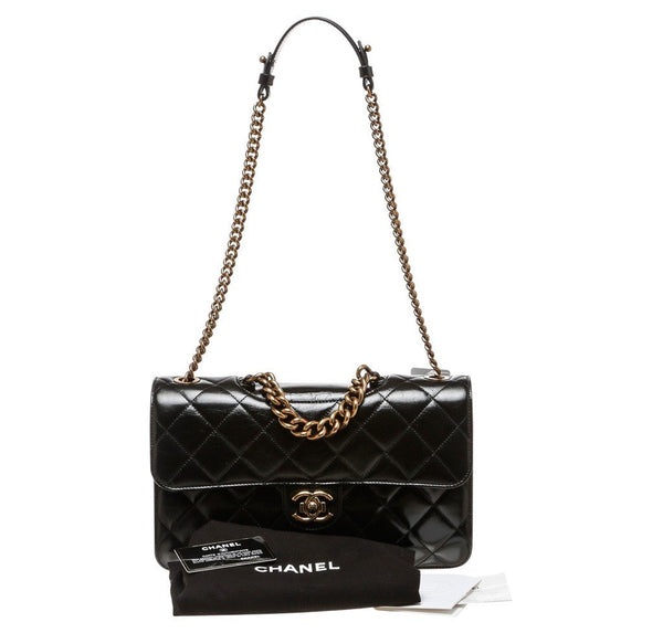 Chanel Medium Perfect Edge Black New complete