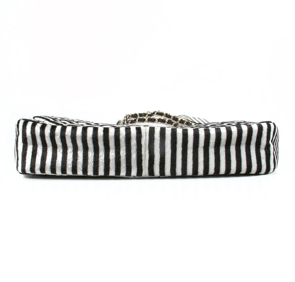 Chanel Rayeures Striped Velvet Flap Bag