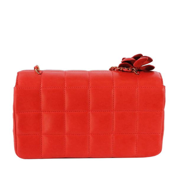 Chanel Mini Flap Camellia Bag Red