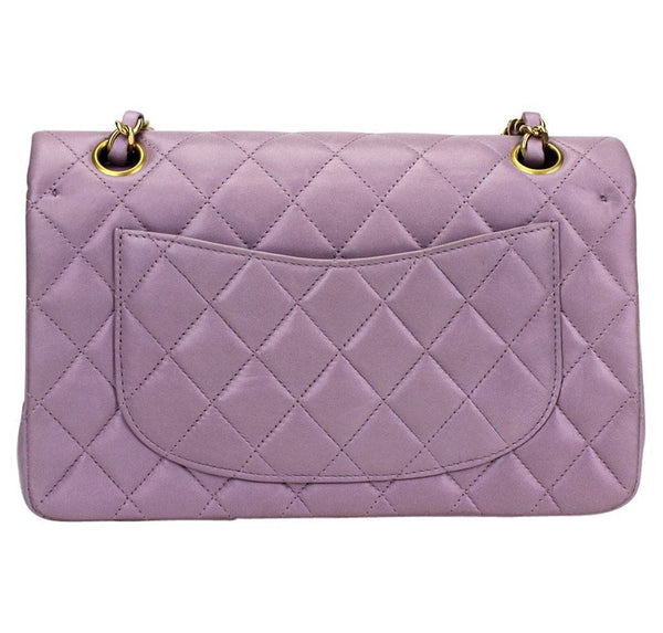 Chanel Flap Bag Light Purple Used back