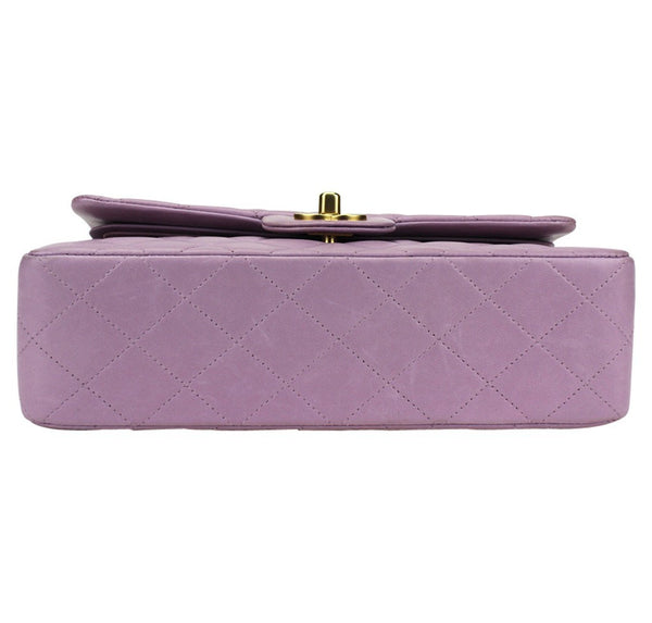 Chanel Flap Bag Light Purple Used bottom
