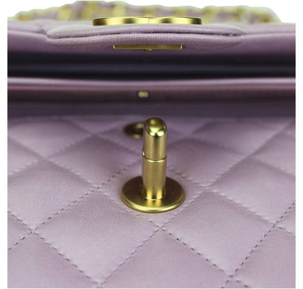 Chanel Flap Bag Light Purple Used detail