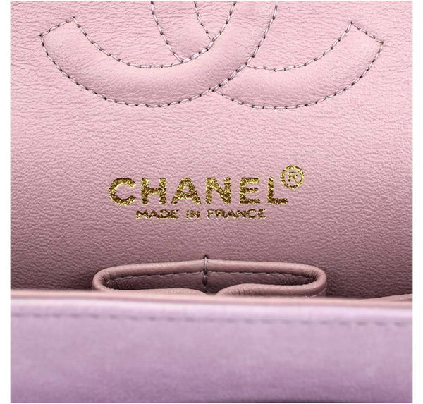 Chanel Flap Bag Light Purple Used embossing