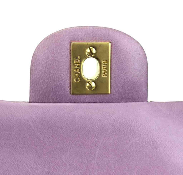 Chanel Flap Bag Light Purple Used engraving