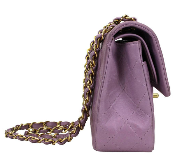 Chanel Flap Bag Light Purple Used side