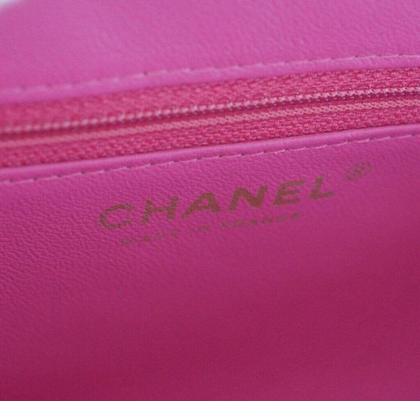 Chanel Chevron Clutch Pink New Embossing