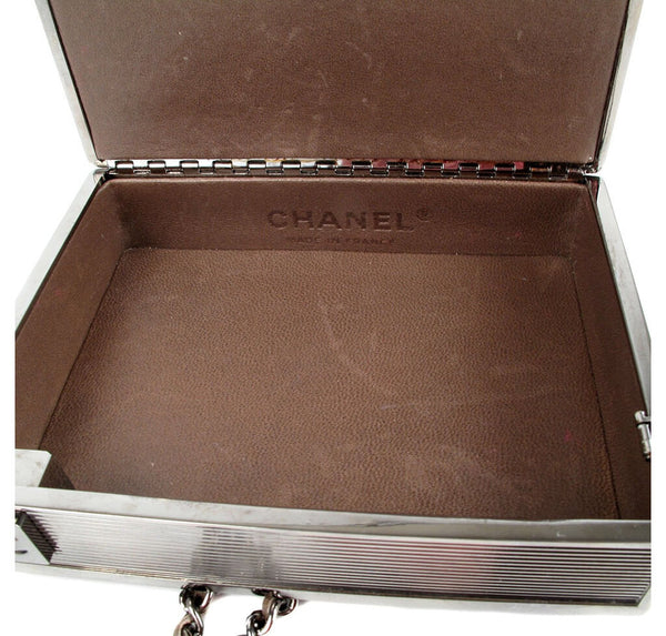 Chanel Cigarette Clutch Bag Brown Used Inside