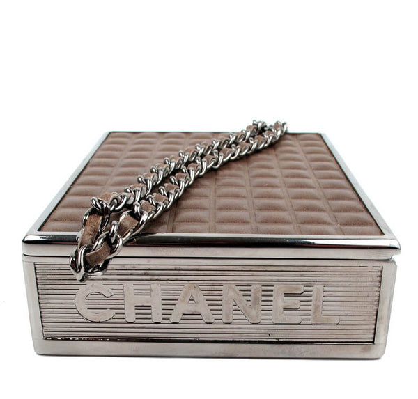 Chanel Cigarette Clutch Bag Brown Used Side