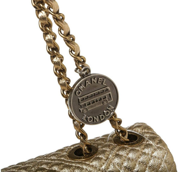 chanel 15C coin classic gold new detail