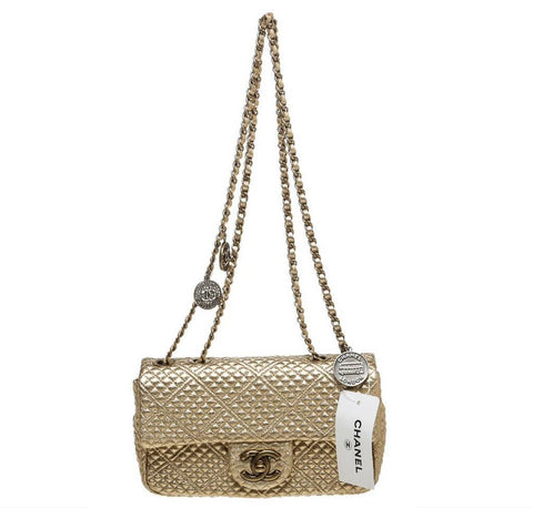 Chanel 15C Coin Classic Bag Gold