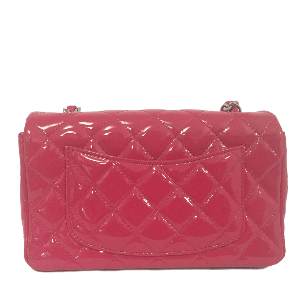 99705253e8f5 Chanel Classic Flap Mini Bag Fuschia - Patent Leather | Baghunter