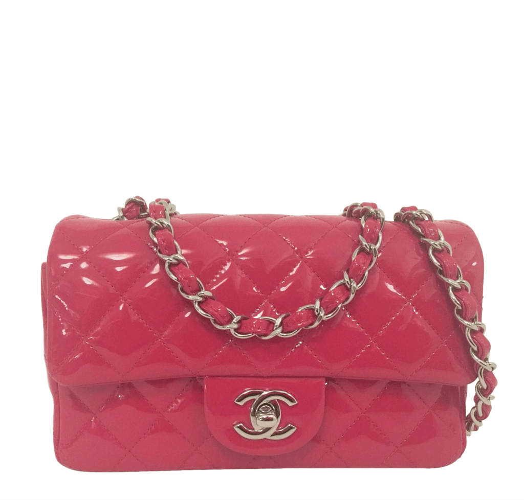 767e9b56f63 Chanel Classic Flap Mini Bag Fuschia - Patent Leather   Baghunter