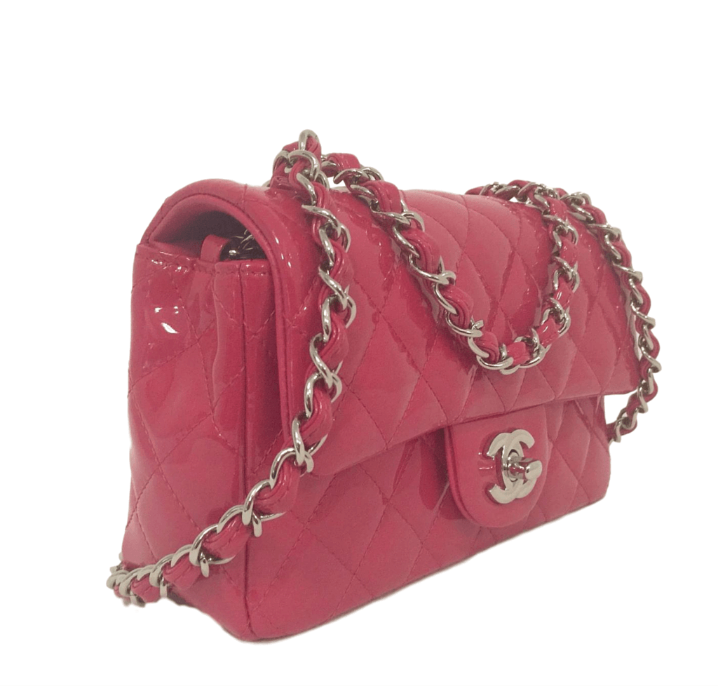 45d80a2e3b7a Chanel Classic Mini Flap Bag Fuschia chanel classic mini flap fuschia new  side ...