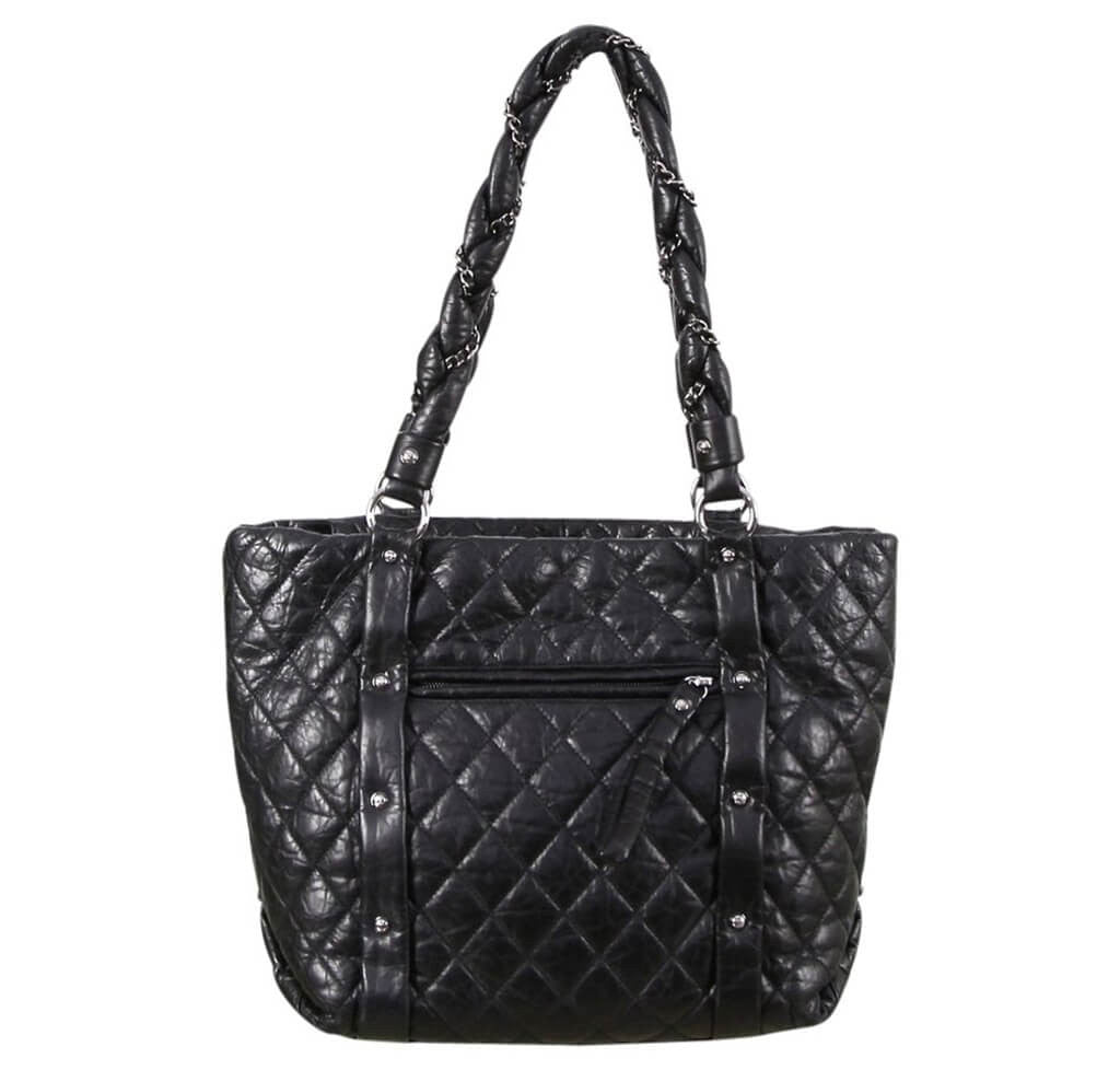 d26b43028c712d Chanel Grand Shopping Tote Black Calfskin