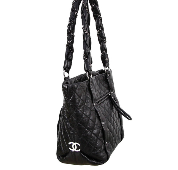 Chanel Grand Shopping Tote Black Calfskin