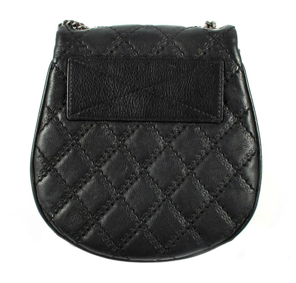 Chanel Crossbody Tassel Bag Black Used Back