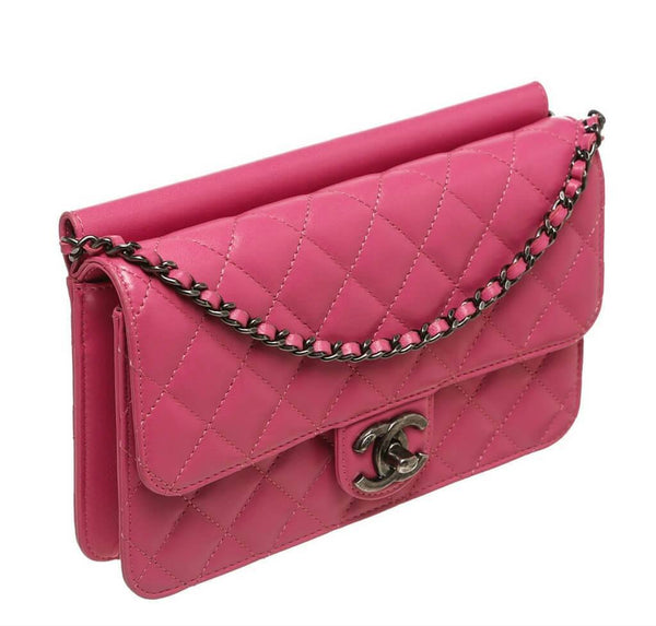 chanel crossing times bag pink used side