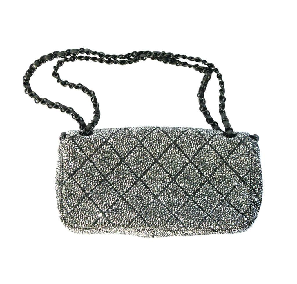 f42a699c578857 Chanel Custom Crystal Bag chanel crystal swarovski bag special used back ...
