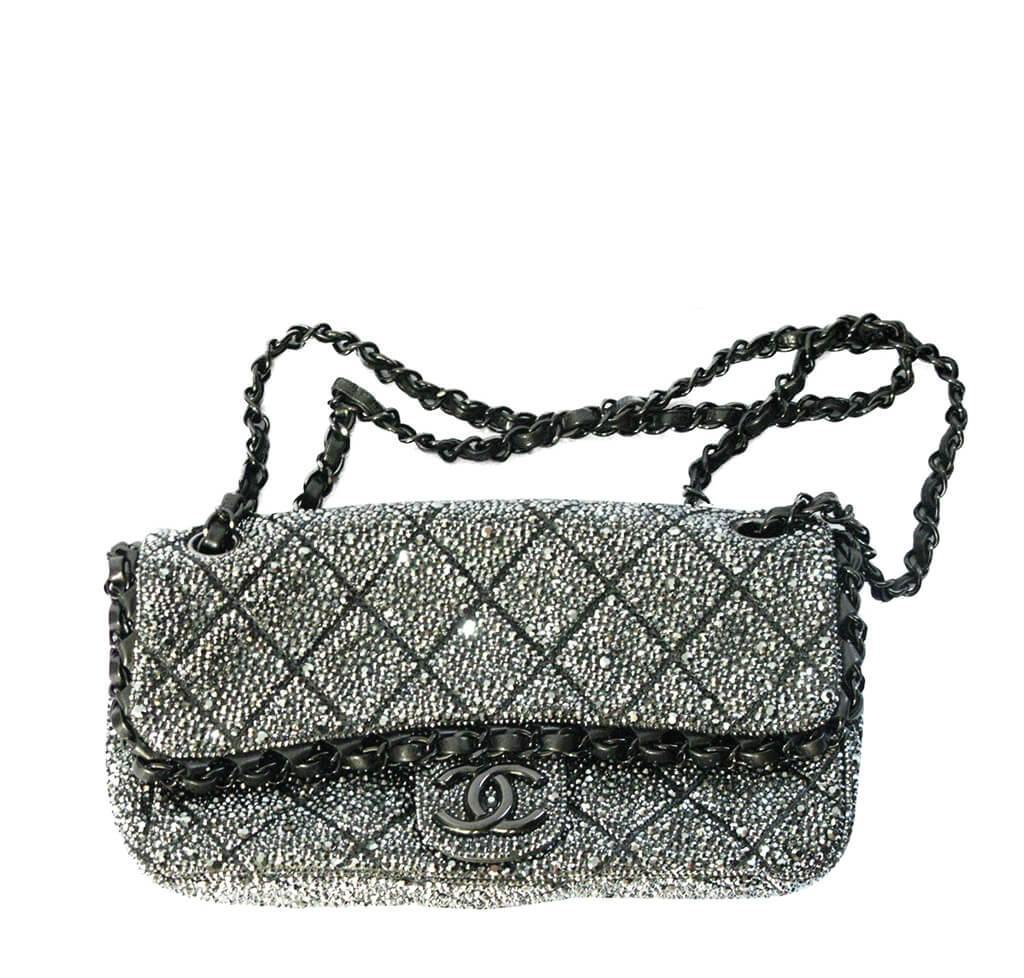 d0f5985eb72d Chanel Bespoke Crystal Bag Silver Hardware | Baghunter