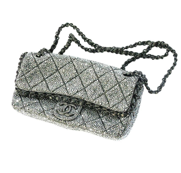 chanel crystal swarovski bag special used side