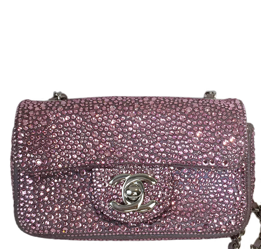 0c33b8f0f532 Chanel Mini Bag Pink Swarovski Crystals