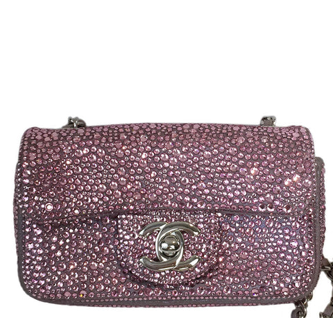 Chanel Mini Bag Pink Swarovski Crystals