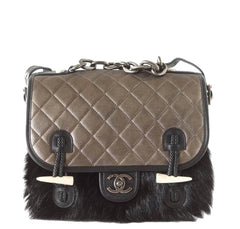 Chanel Dallas Collection Bag Black Fur