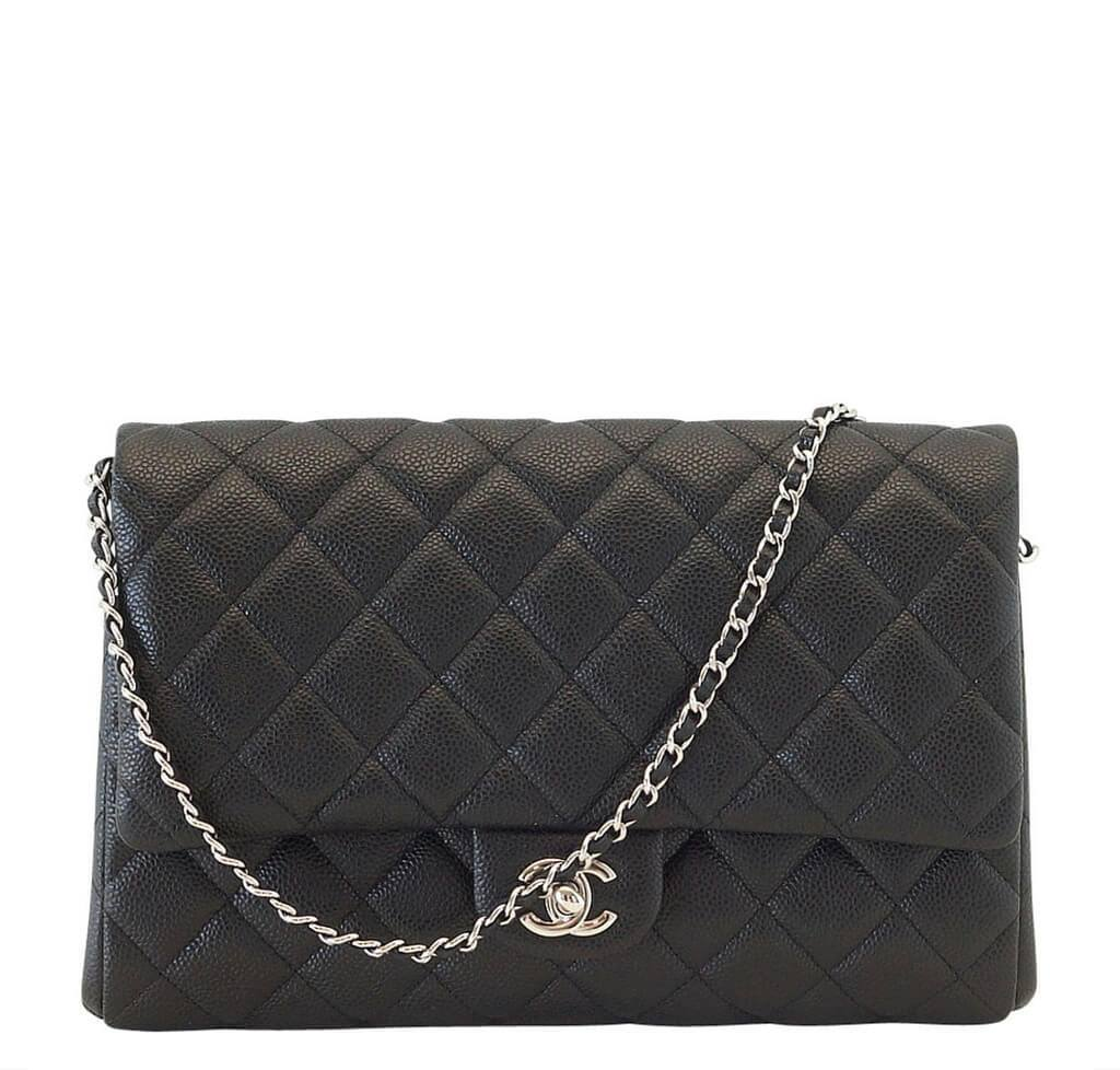 Chanel Flap Bag Black - Caviar Leather Silver Hardware  cd5940dc02104