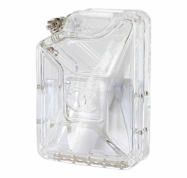 chanel jerry can bag runway clear plexiglass limited edition cruise new side