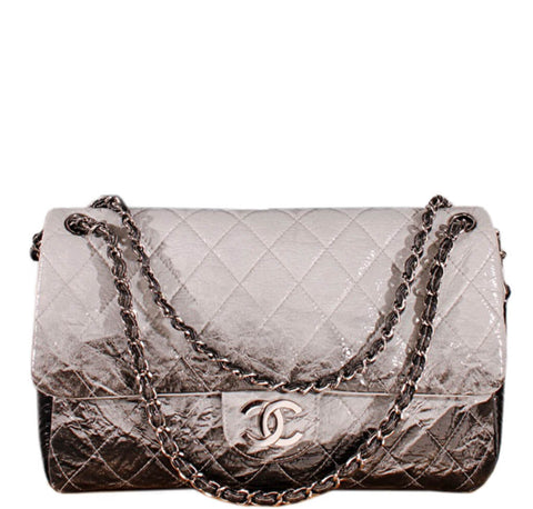 Chanel Jumbo Flap Bag Grey Black
