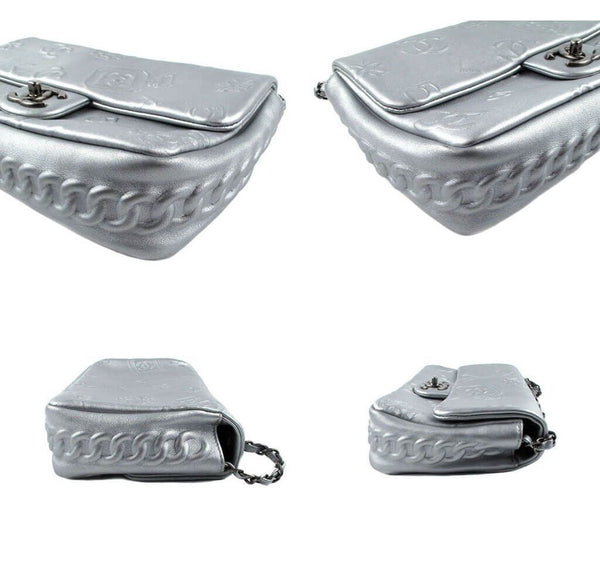 Chanel Jumbo Shoulder Lucky Charms Silver Used detail