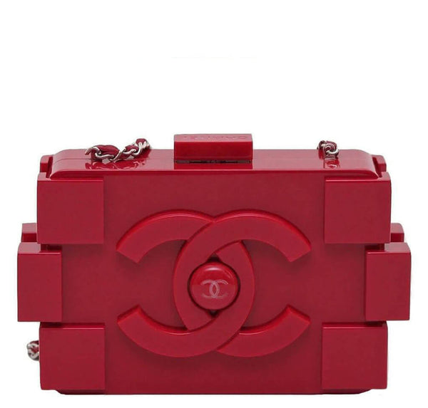 Chanel Lego Brick Bag Red Plexiglass