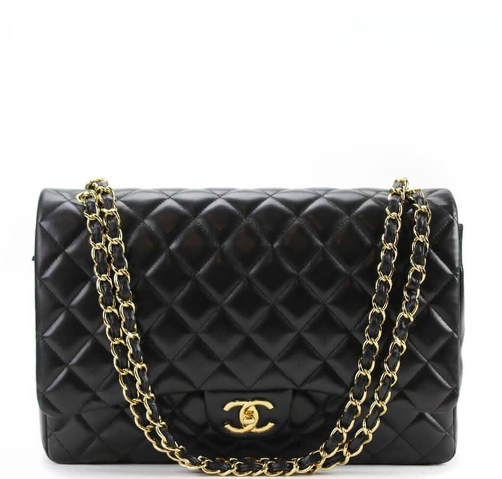 f1f97f31150b Chanel Maxi Shoulder Bag Black - Gold Hardware | Baghunter