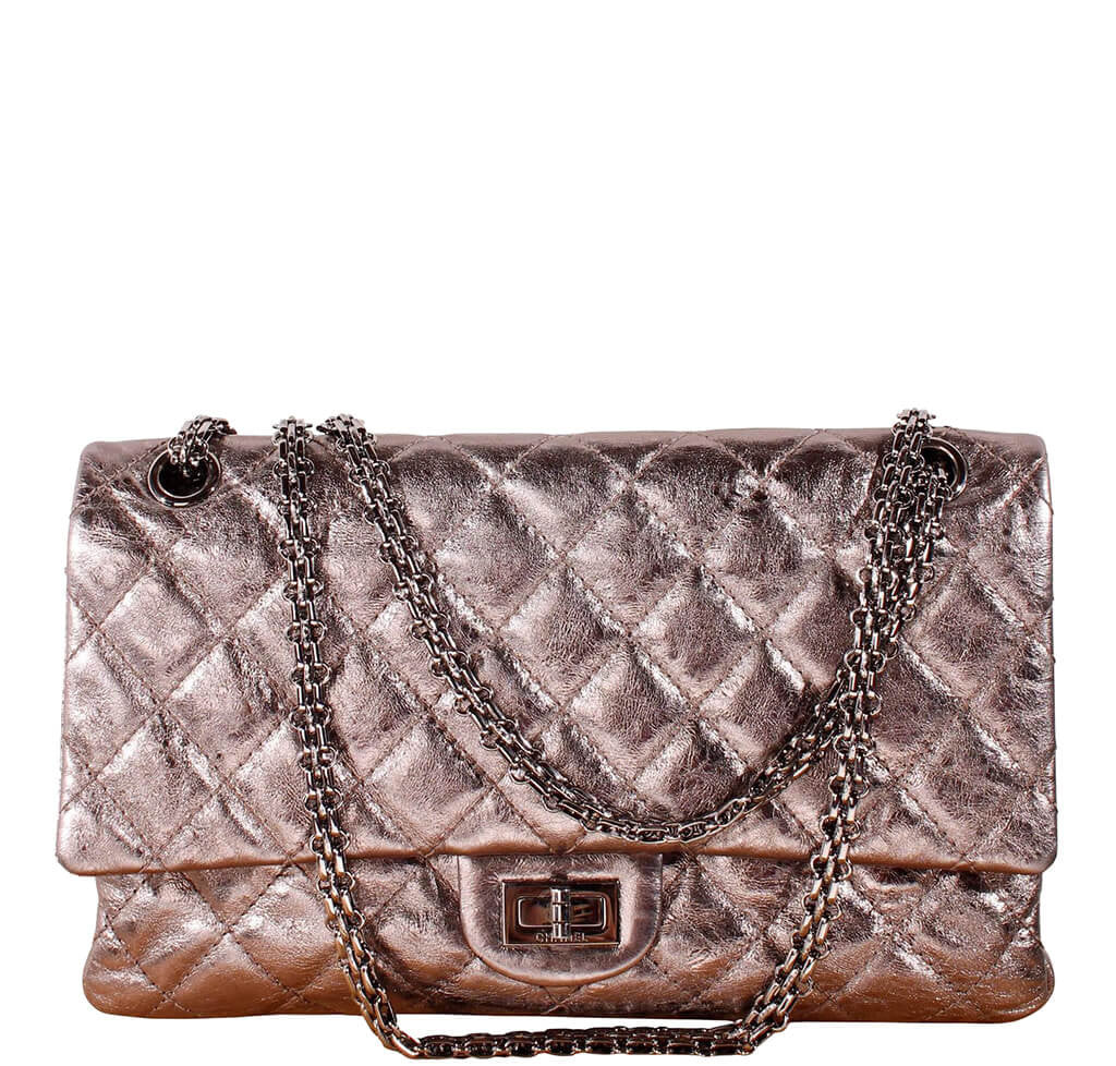 b517a0568274 Chanel 2.55 Bag Metallic Calfskin Rose Pink - Silver Hardware ...