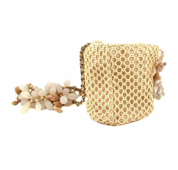 Chanel Minaudiere Coral Seashell Tan Used Back