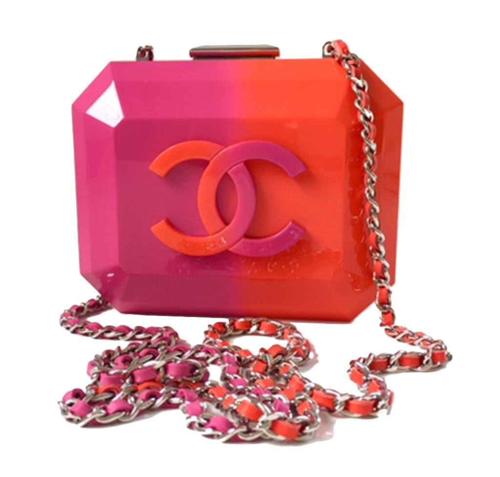 be6739fce5bf Chanel Minaudiere Ombre - Pink, Red | Baghunter