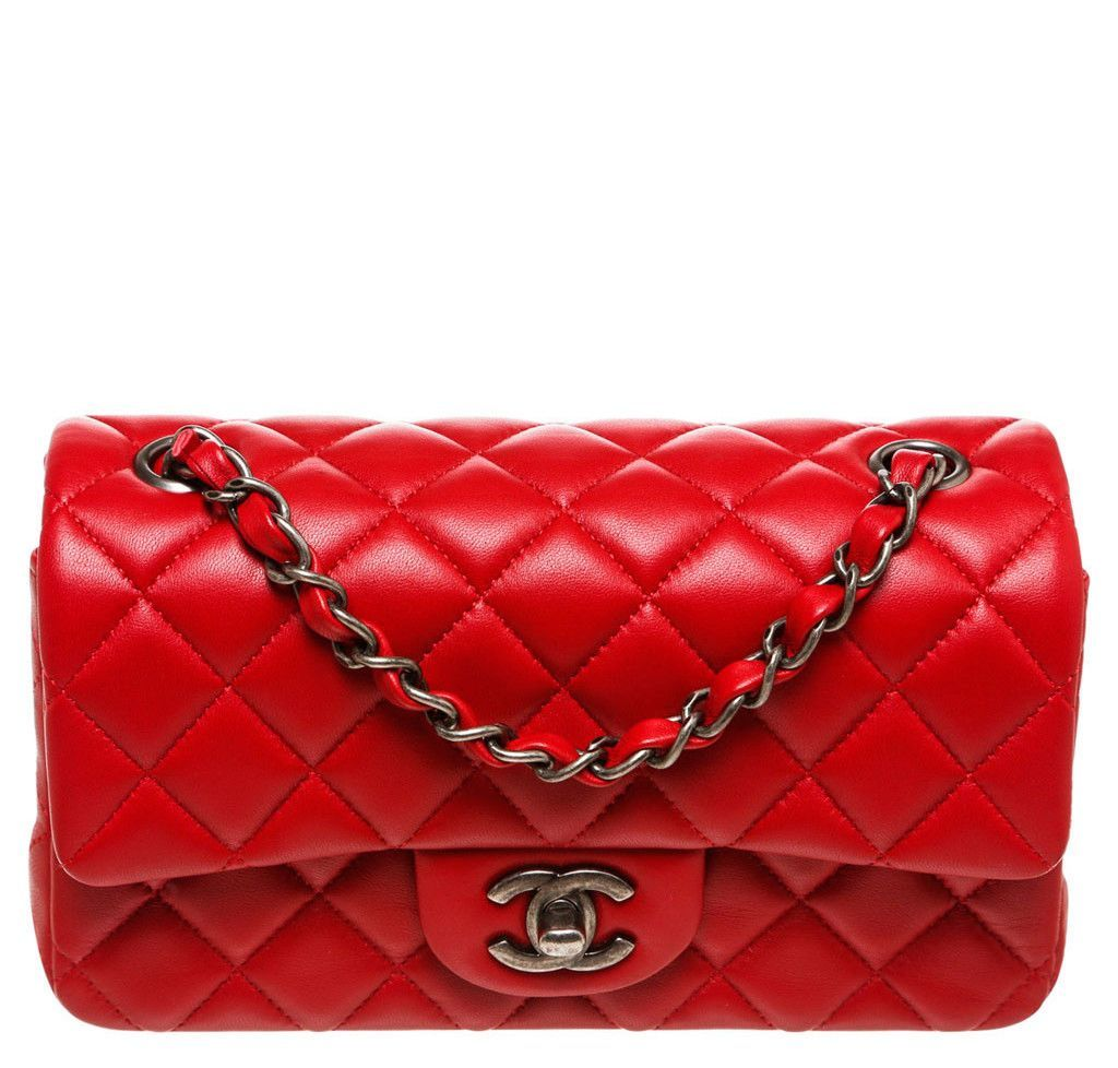 642866f5b2e1 Chanel Mini Classic Shoulder Flap - Lambskin Red | Baghunter