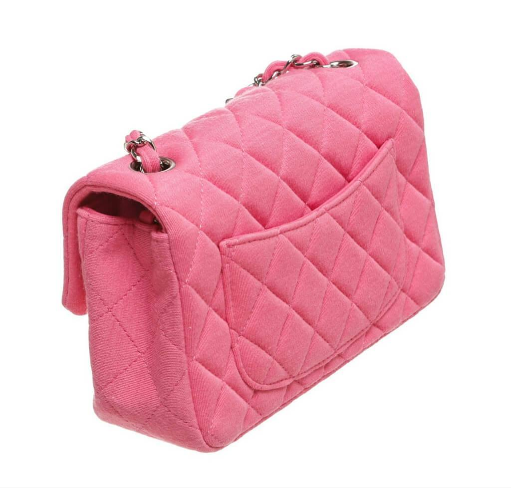 632624a7d2660a Chanel Mini Flap Classic Bag Pink - Quilted Jersey | Baghunter