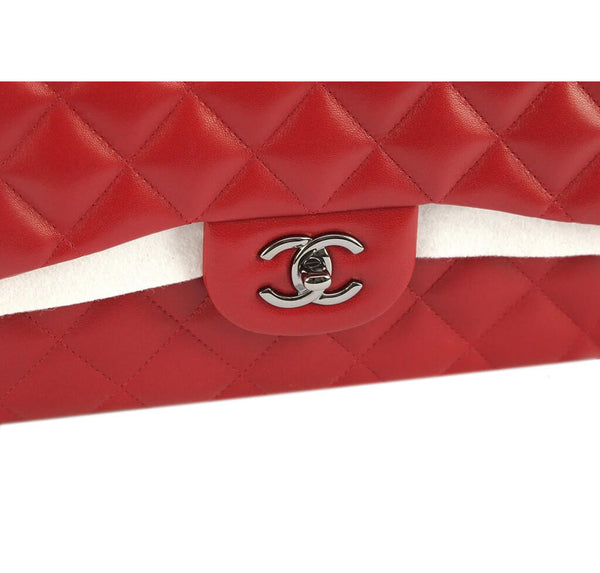 Chanel Jumbo Double Flap Bag Red