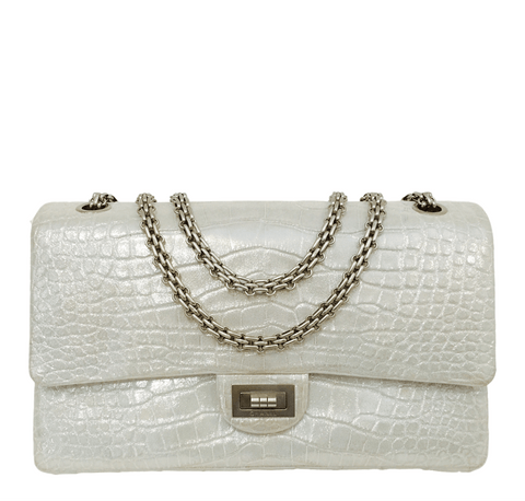 Chanel Reissue 2.55 Bag Silver Alligator