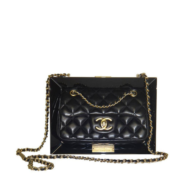 Chanel Runway Plexiglass Frame Bag Black