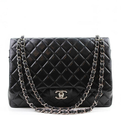 Chanel Shoulder Flap Maxi Bag Black