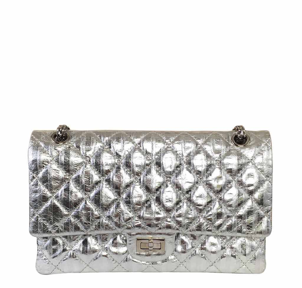 bfc8c8f83678 Chanel Silver Mirror 225 Flap Bag - Limited Edition | Baghunter