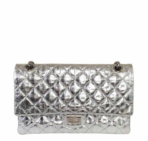 Chanel Silver Mirror 225 Flap Bag