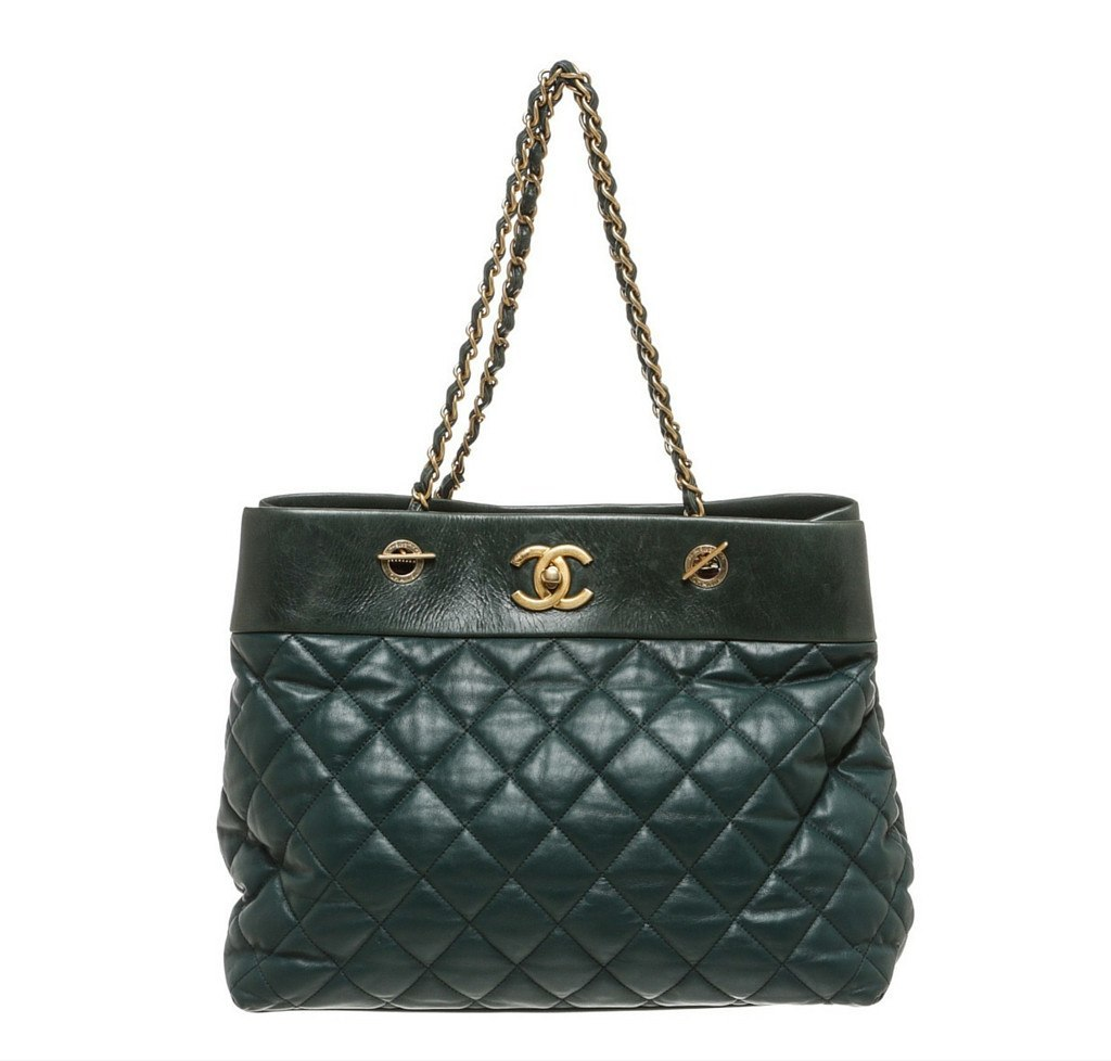 ff17f5ec9b Chanel Quilted Tote Bag Green
