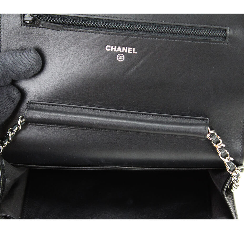 e9699acb2 Chanel Wallet on Chain Bag - Black Sevruga Caviar Leather | Baghunter