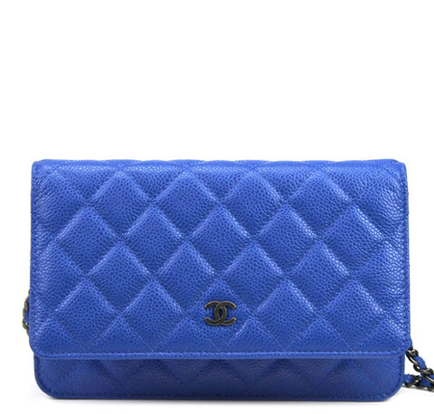 Chanel WOC Bag Blue Caviar Leather