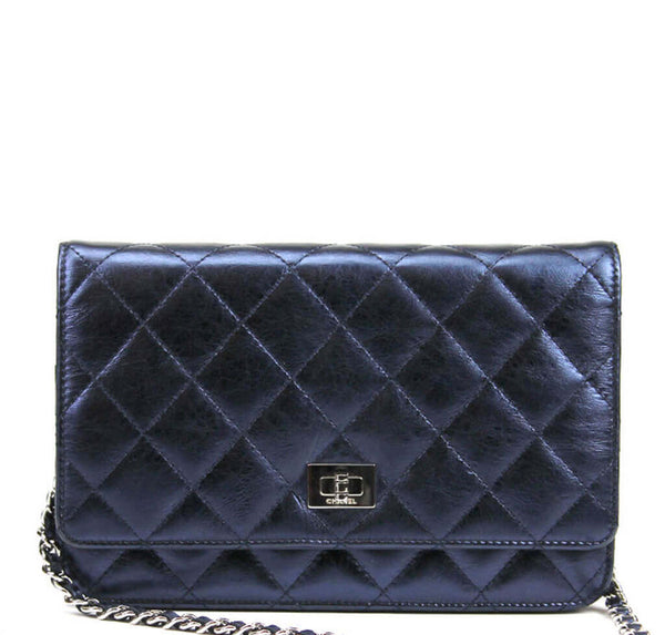 Chanel WOC Bag Dark Blue Lambskin