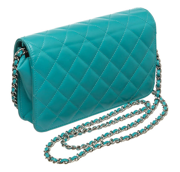 Chanel WOC Bag Teal Lambskin